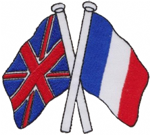 United Kingdom UK & France Friendship Embroidered Patch A185